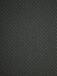Baumwoll-Jersey schwarz kleine Pünktchen weiß