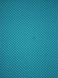 Baumwoll-Jersey türkis/hellblau kleine Punkte