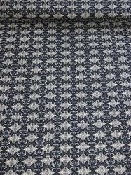 Retro Strick-Jersey mit Muster blau/schwarz/weiß