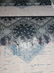 Viskosejersey ausgefallenes Muster dklblau/rosa