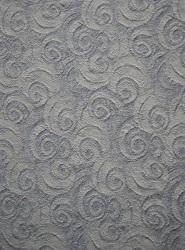 Jaquardstrick Baumwolle wollweiß/grau Spiralen