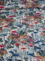 Viscose-Jersey Muster bunt mit Flamingos