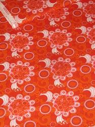 rot orange pink Blumenmuster retro